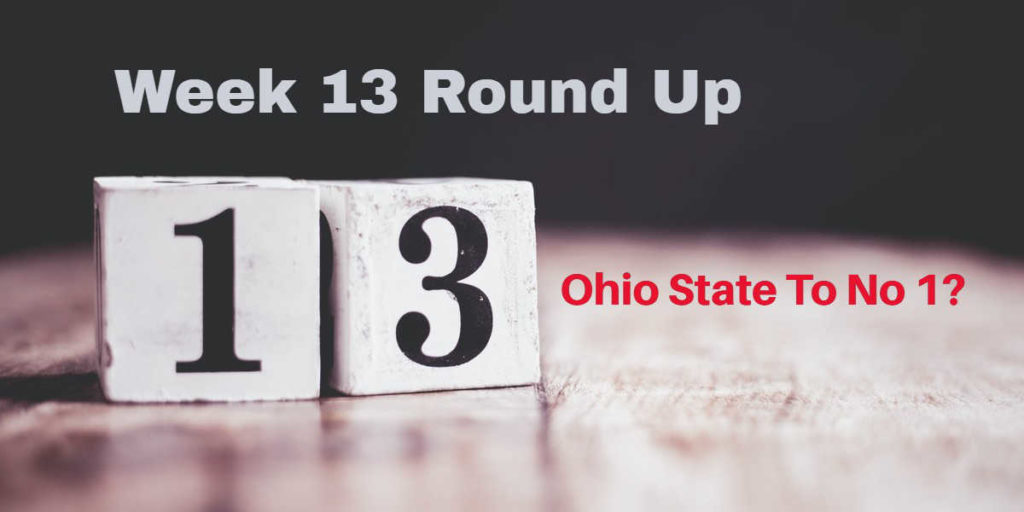 Week 13 Round Up – All Quiet On The Playoff Front?