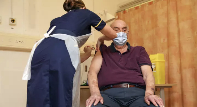 Patient Receives First Oxford Vaccine